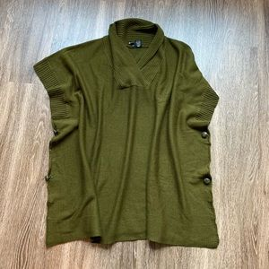 New Direction olive poncho